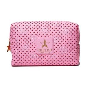 Jeffree star make up bag mesh pink